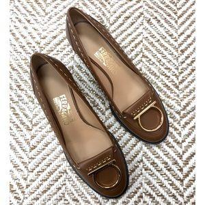 Ferragamo Brand New Gancini Logo Low Heel Loafer